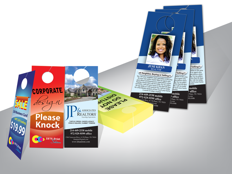 Door Hanger printing service company | Print Shop in Fort Worth, TX